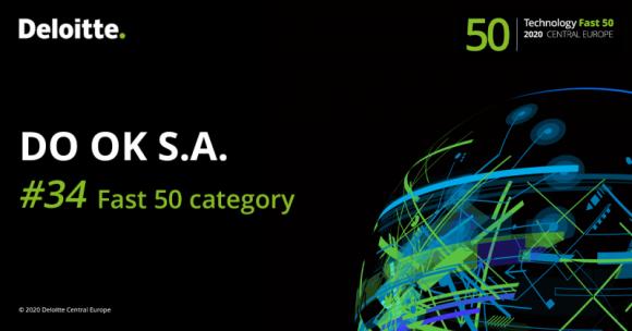 DO OK S.A. laureatem rankingu Deloitte Technology Fast 50 Central Europe 2020 BIZNES, Giełda - DO OK, notowana na NewConnect spółka, zajmująca się doradztwem technologicznym i tworzeniem oprogramowania, została wyróżniona w tegorocznej edycji prestiżowego rankingu Deloitte Technology Fast 50 Central Europe.